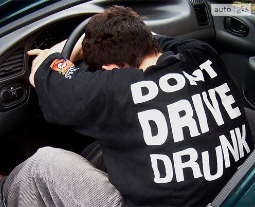 Нетрезвых водителей будут штрафовать на 40 000 грн.