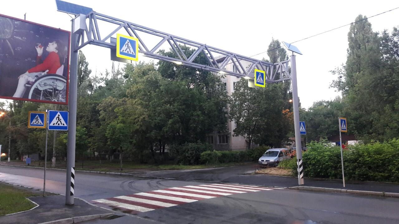 Не все переходы в Киеве будут с солнечной батареей