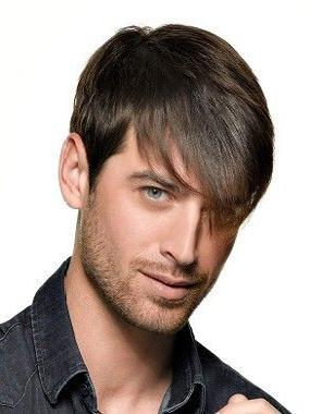 Мужские причёски с длинной чёлкой на бок