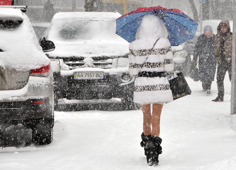 На Киев надвигается сильнейший снегопад