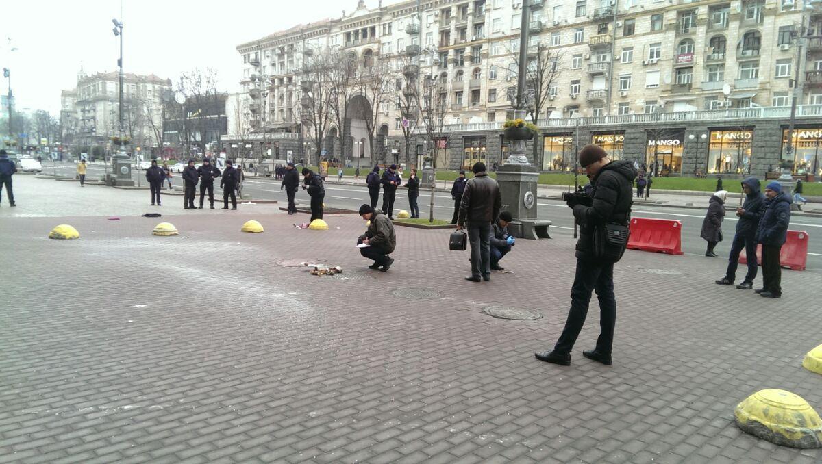 Возле здания КГГА прогремел взрыв