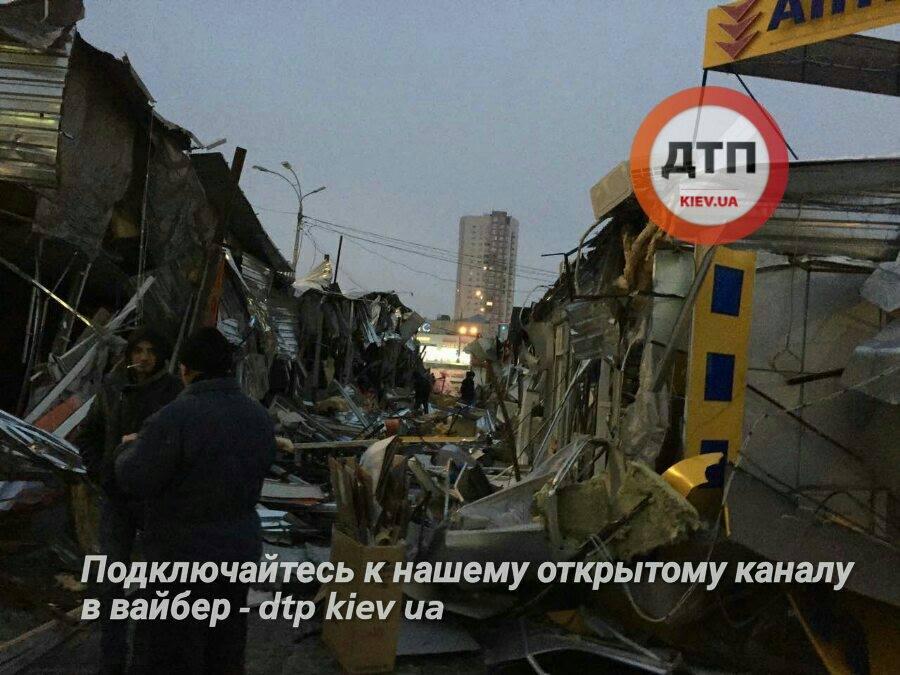 Киевские власти прокомментировали демонтаж киосков на Оболони