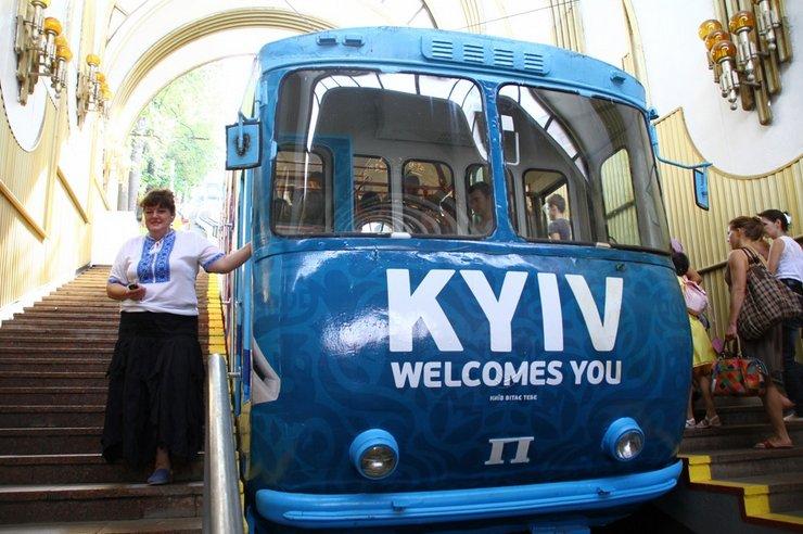 В Киеве на фуникулере можно будет покататься всю новогоднюю ночь
