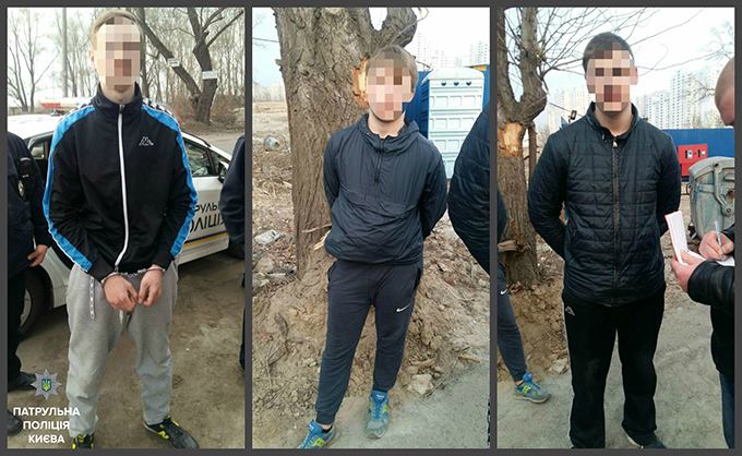 На Троещине задержана банда гопников