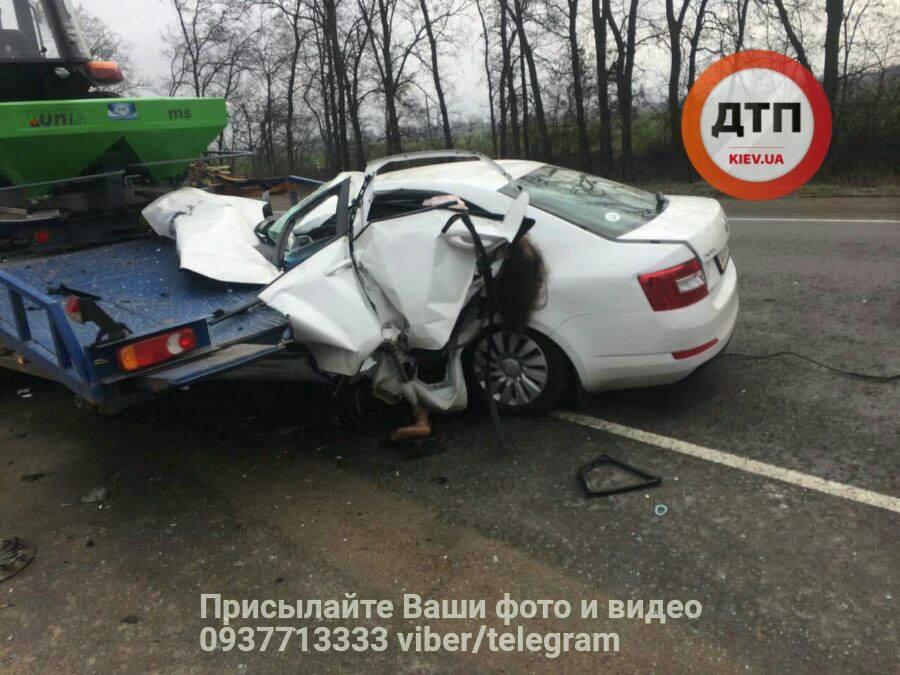 Уснула за рулем? Ужасное ДТП под Киевом