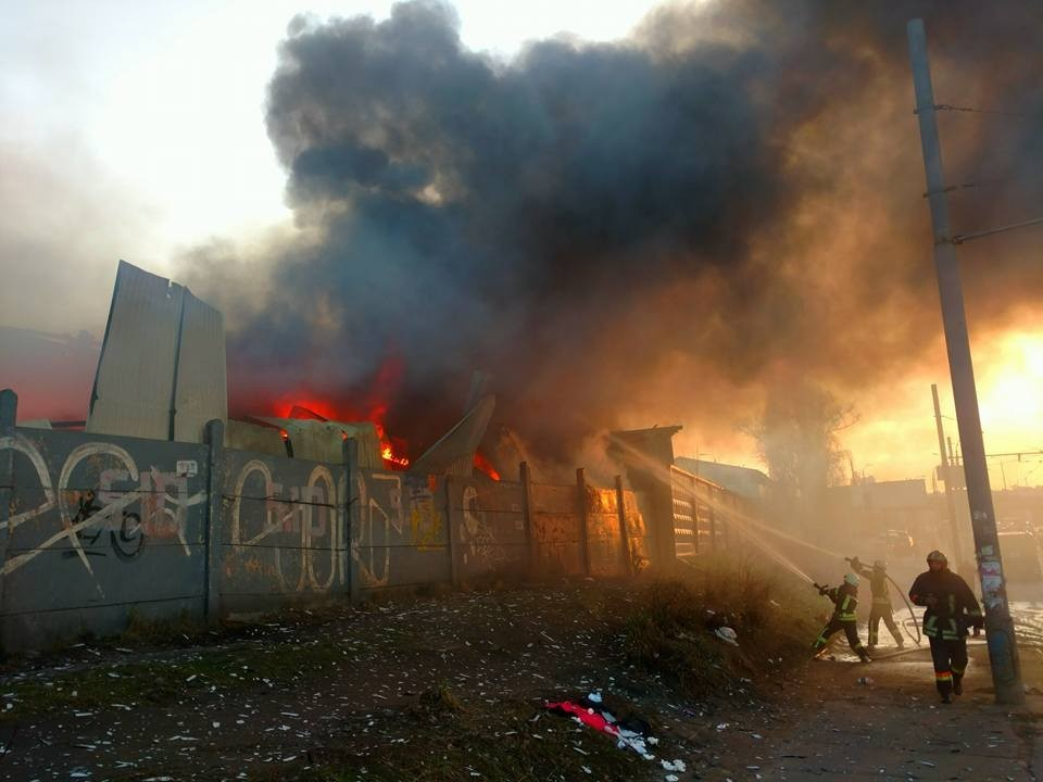 На Петровке произошел масштабный пожар. Подробности