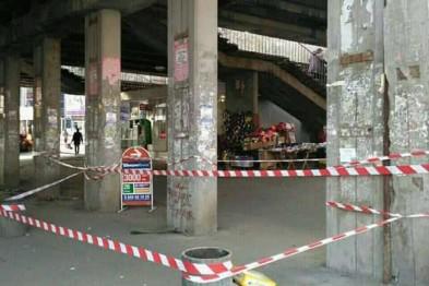 В Киеве аварийный мост травмировал 18-летнюю девушку