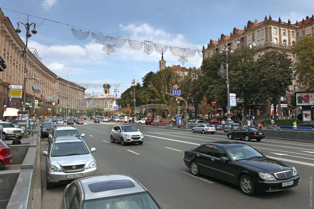На Крещатике после Евровидения разрешили движение транспорта