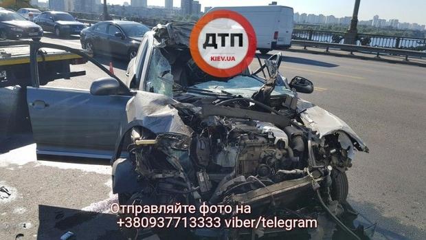 ДТП на мосту Патона в Киеве: пассажир был обезглавлен