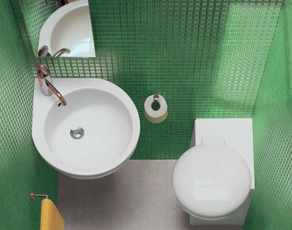 Недорогая сантехника для маленькой ванной комнаты