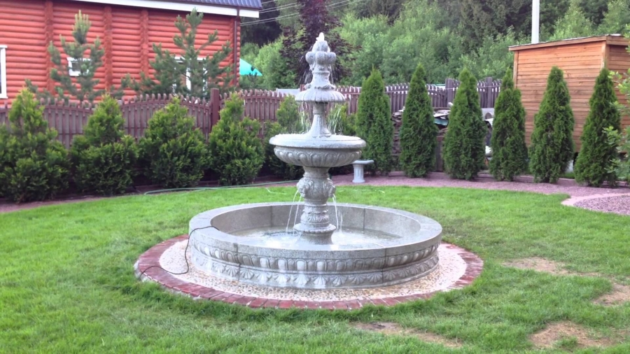 Гранитные фонтаны в ландшафтном дизайне