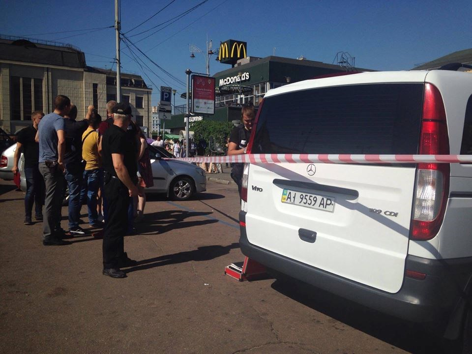 На Вокзальной площади был стрельба. Ранены три человека