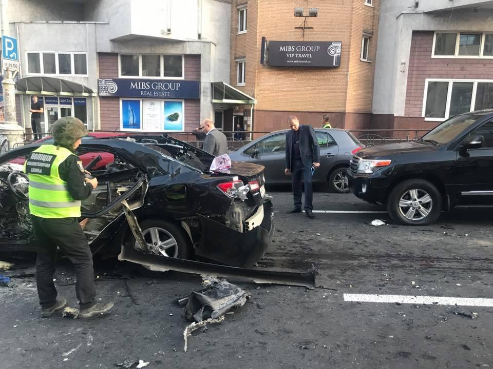 Все подробности взрыва авто в центре Киева