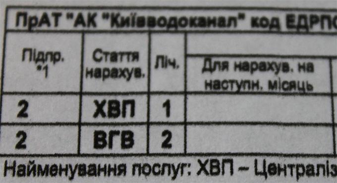 Киевлянам прислали новые платежки за коммунальные услуги