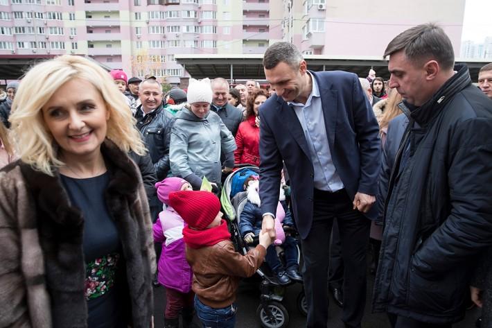 Кличко открыл новый детский садик на Троещине