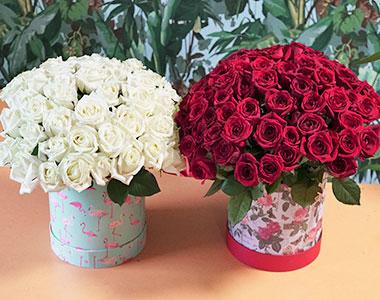 Цветы в коробке: лучший сюрприз для возлюбленной