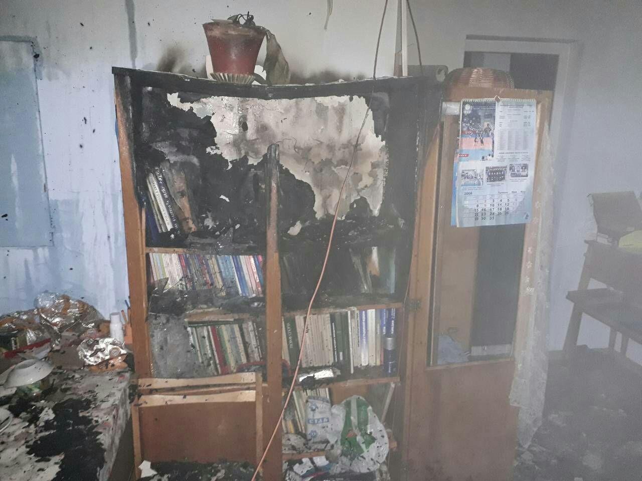В школе на Троещине утром произошел пожар