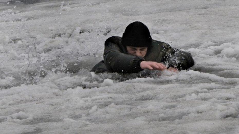 Под Киевом двое смелых мужчин провалились под лед
