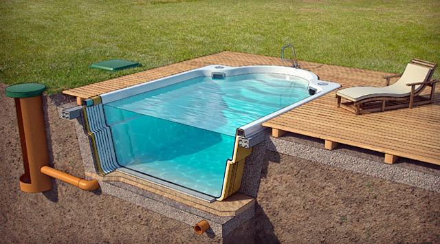 Стеклопластиковый бассейн от компании «Акватик»