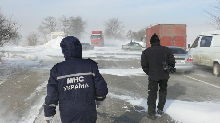 Киевлян предупреждают о надвигающейся метели и урагане