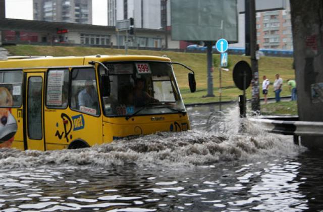 В Киеве ожидается серьезное подтопление улиц и микрорайонов