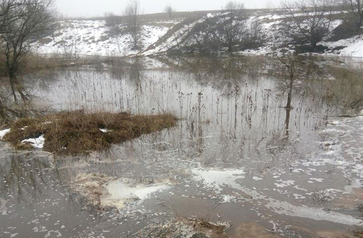 Экокатастрофа: под Киевом прорвало дамбу