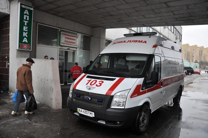 В киевской маршрутке серьезно пострадал пьяный мужчина