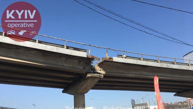 """Кличко рассказал об """"обвал"""" моста возле метро """"Выдубичи"""""""