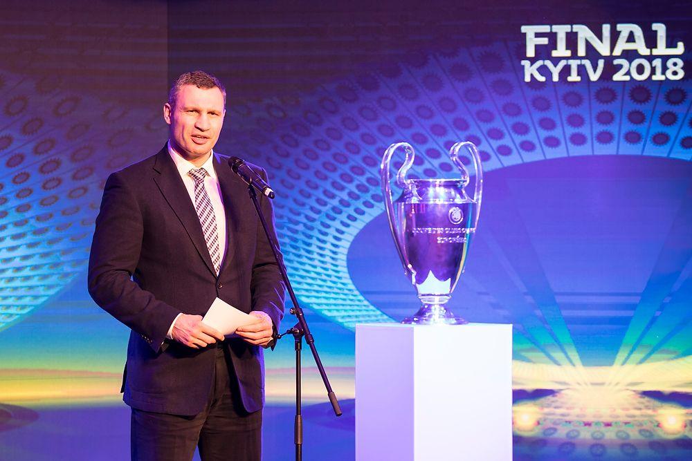 Кличко поблагодарил киевлян, за их бесплатный прием фанов Лиги Чемпионов