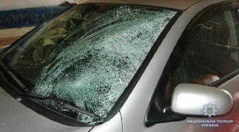 Под Киевом камень, брошенный в автомобиль, едва не убил малолетних детей