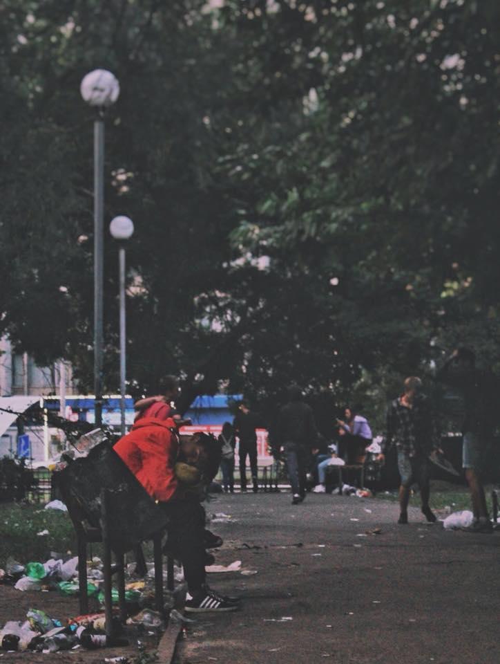 """Студенты КПИ """"грязно"""" отметили День первокурсника в Киеве"""