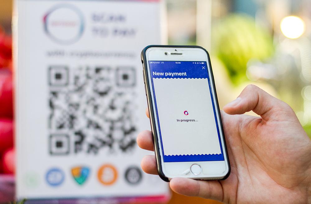 На Бессарабском рынке теперь можно рассчитаться за покупки криптовалютой
