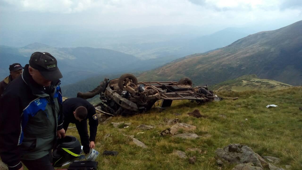 Киевляне погибли на Закарпатье, сорвавшись в ущелье