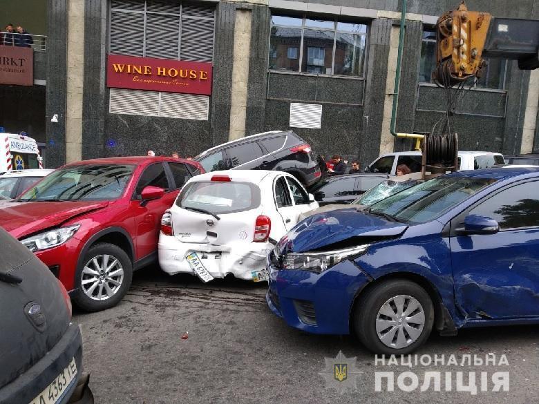 Масштабное ДТП в центре Киева: подробности