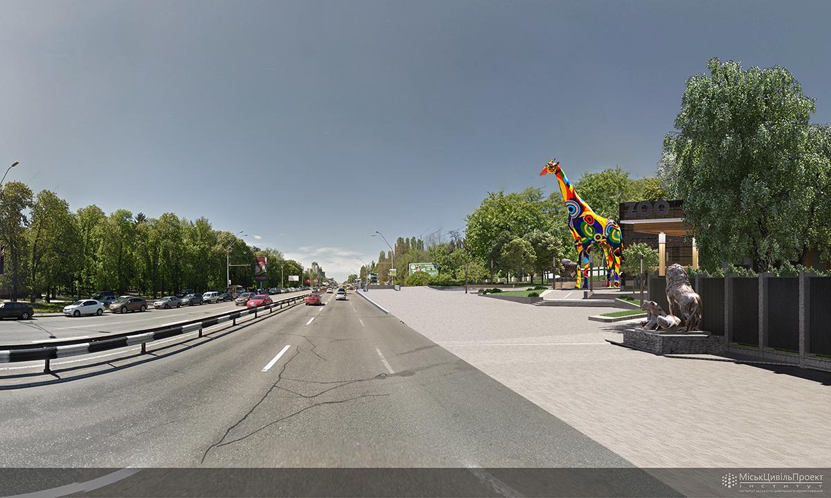 Возле Киевского зоопарка появится 5-этажный жираф