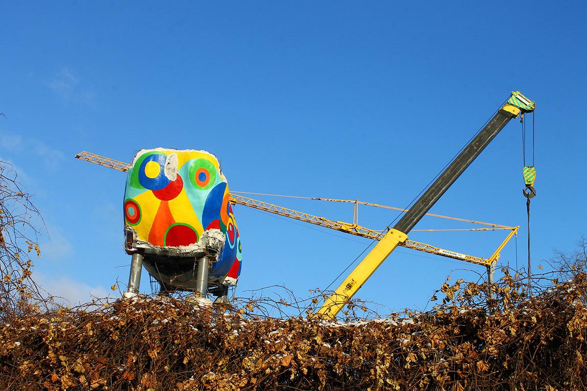 В Киевском зоопарке появился 15-метровый жираф