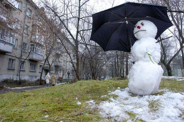 В Киев идет оттепель. Снег растает