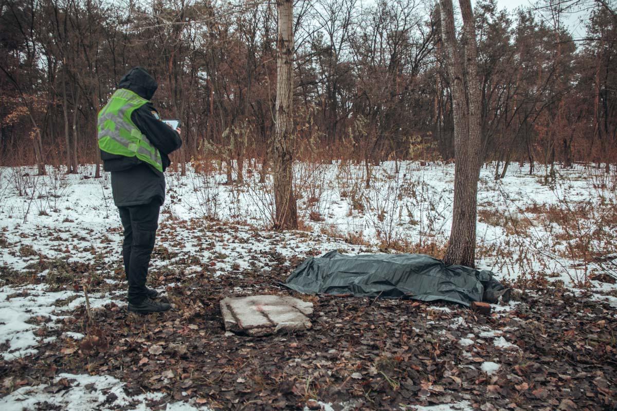 В лесополосе Киева нашли замерзший труп мужчины