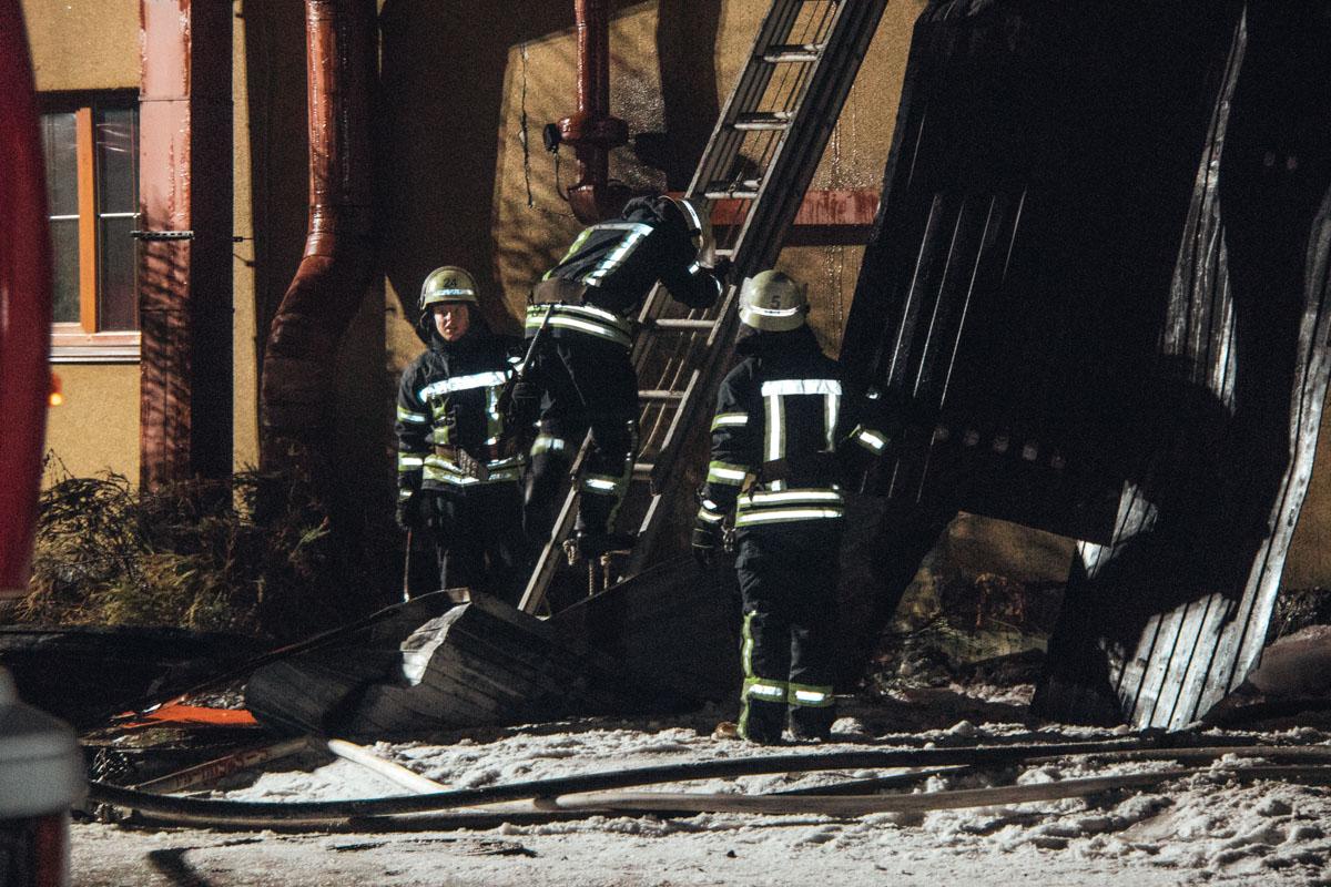 В киевском ресторане произошел пожар