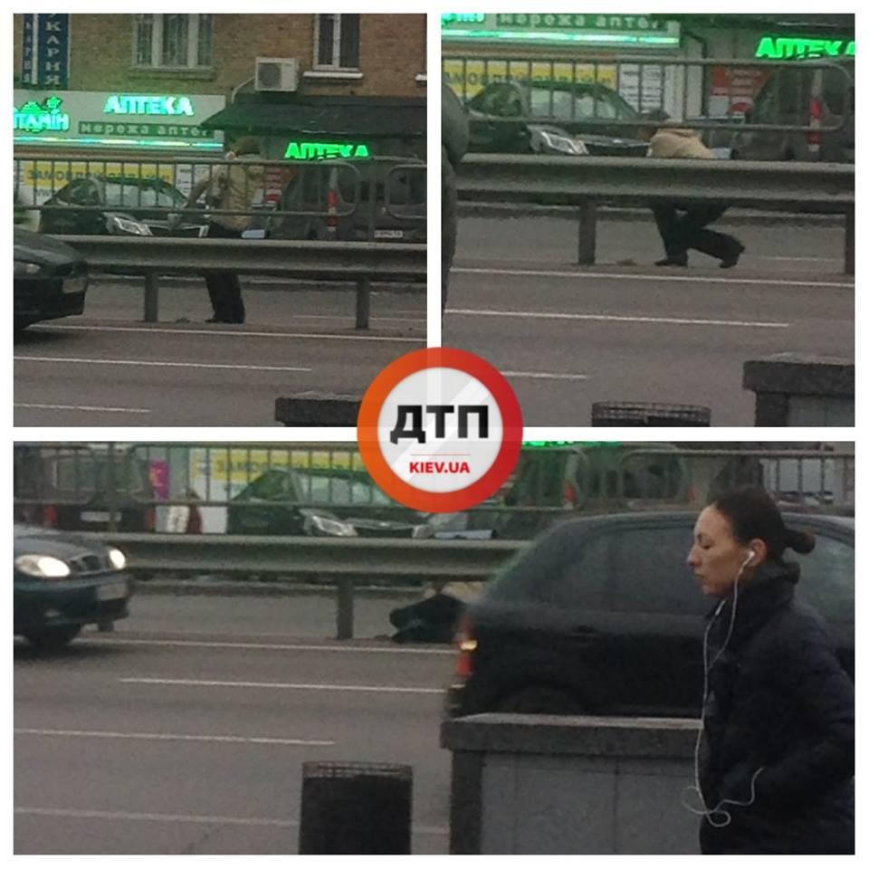 На проспекте Победы женщина едва не лишилась головы