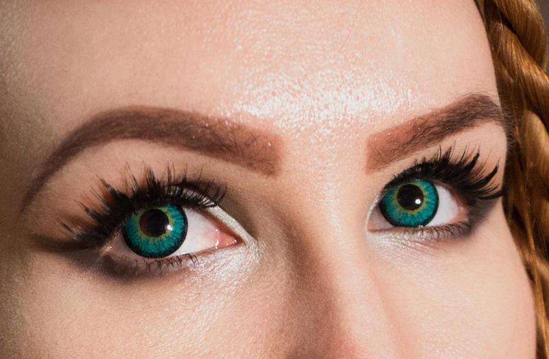 Изменяем цвет глаз линзами