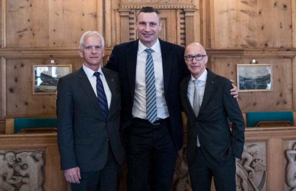 Кличко встретился с мэрами Давоса и Сент-Галлена и обсудил с ними внедрение smart-технологий