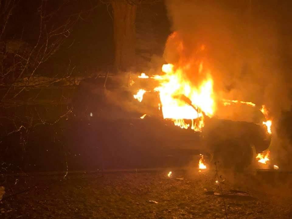 На проспекте Победы сожгли машину матери депутата Киевсовета