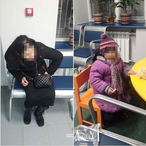 В Борисполе задержали пьяную горе-мать с ребенком