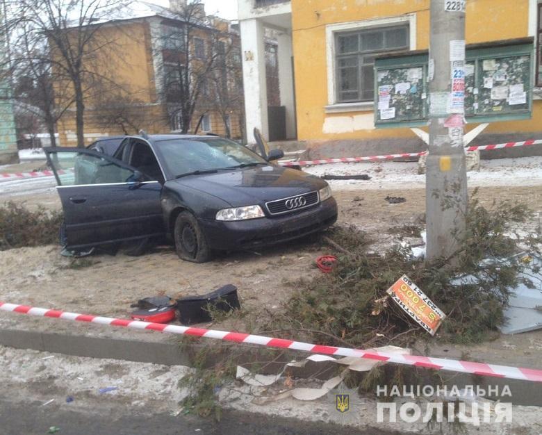 Смертельное ДТП в Киеве: погиб пассажир иномарки, ранена бабушка