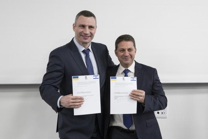 Кличко в Израиле подписал Меморандум о сотрудничестве в области смарт-технологий