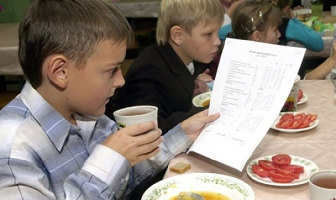 В школах Киева ученики будут питаться как в ресторанах