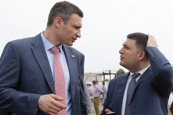 Кличко попросил у Гройсмана денег на мост и метро в Киеве