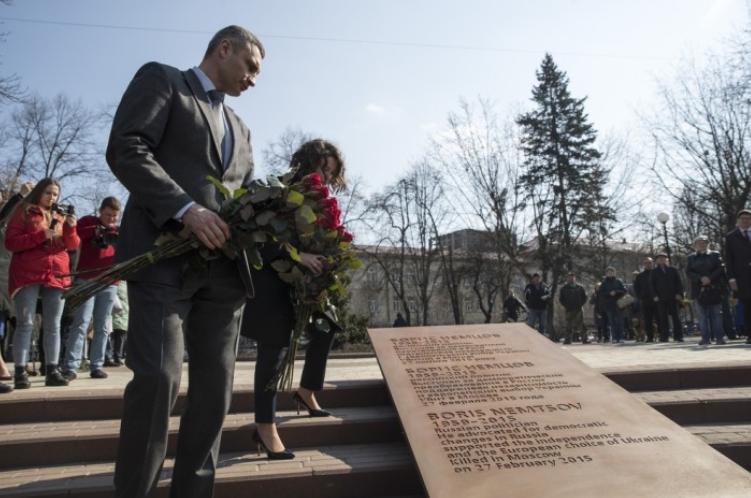 В Киеве открылся сквер имени российского оппозиционера