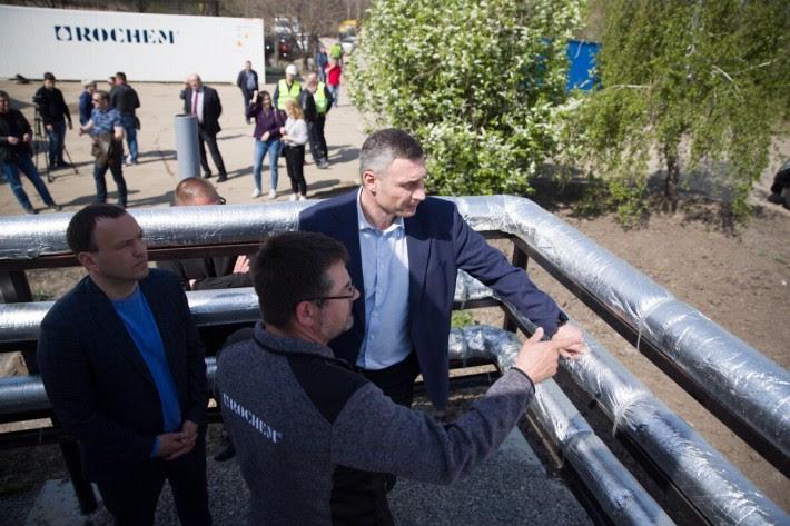 Кличко проверил, как работают новые фильтрационные станции мусорном полигоне
